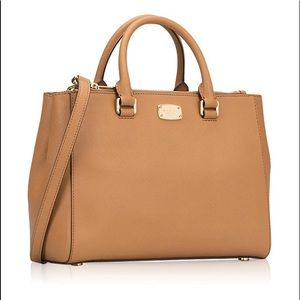 Michael Kors Kellen Safiano Leather Satchel Acorn